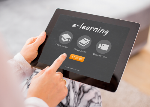 e-learning tablet signup